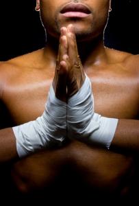 Fighter Praying