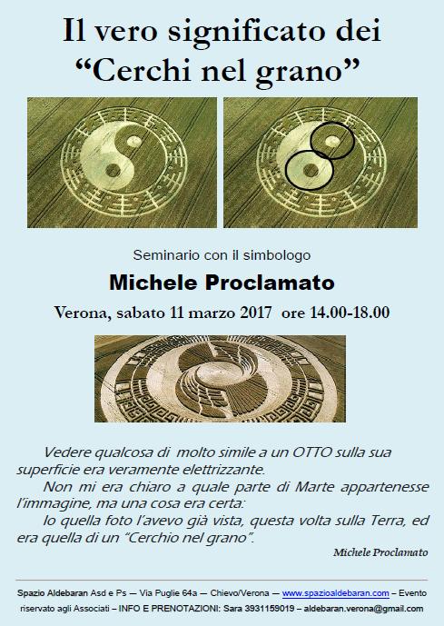 """Michele Proclamato a Verona: """"il vero significato dei cerchi nelgrano"""""""